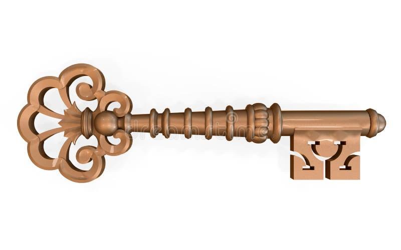 Vieille clé illustration de vecteur