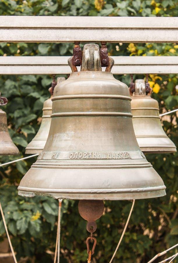 Vieille cloche d'église yaroslavl Fédération de Russie 2017 images libres de droits