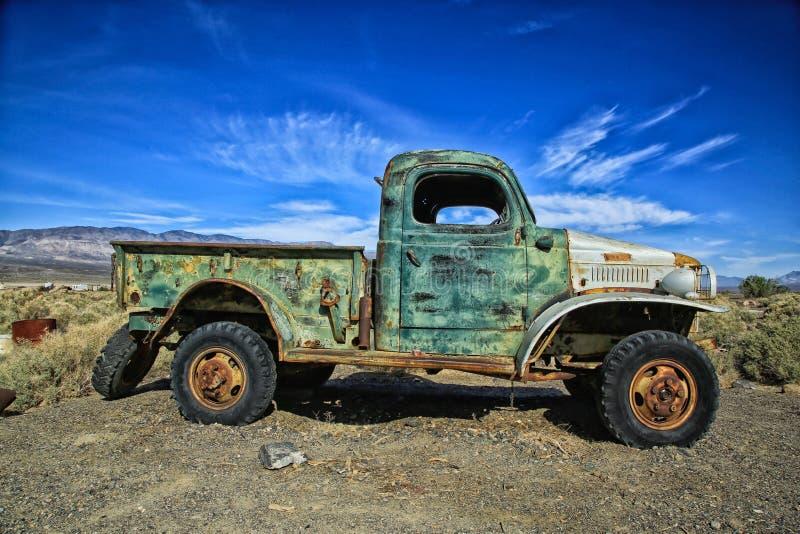 Vieille collecte de camion images libres de droits