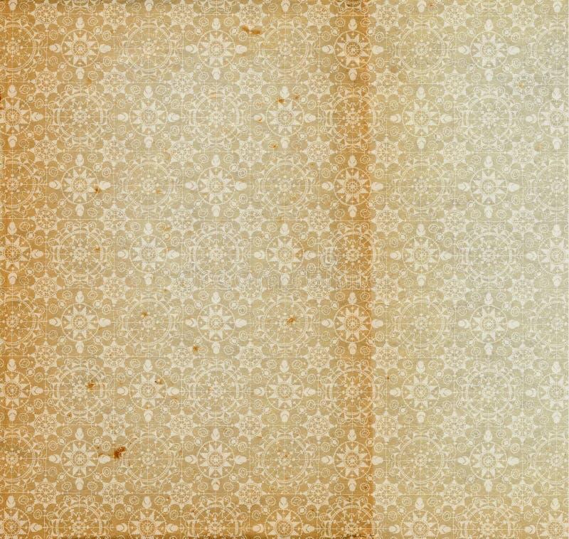 Vieille configuration âgée de flocon de neige de papier d'antiquité de cru illustration de vecteur