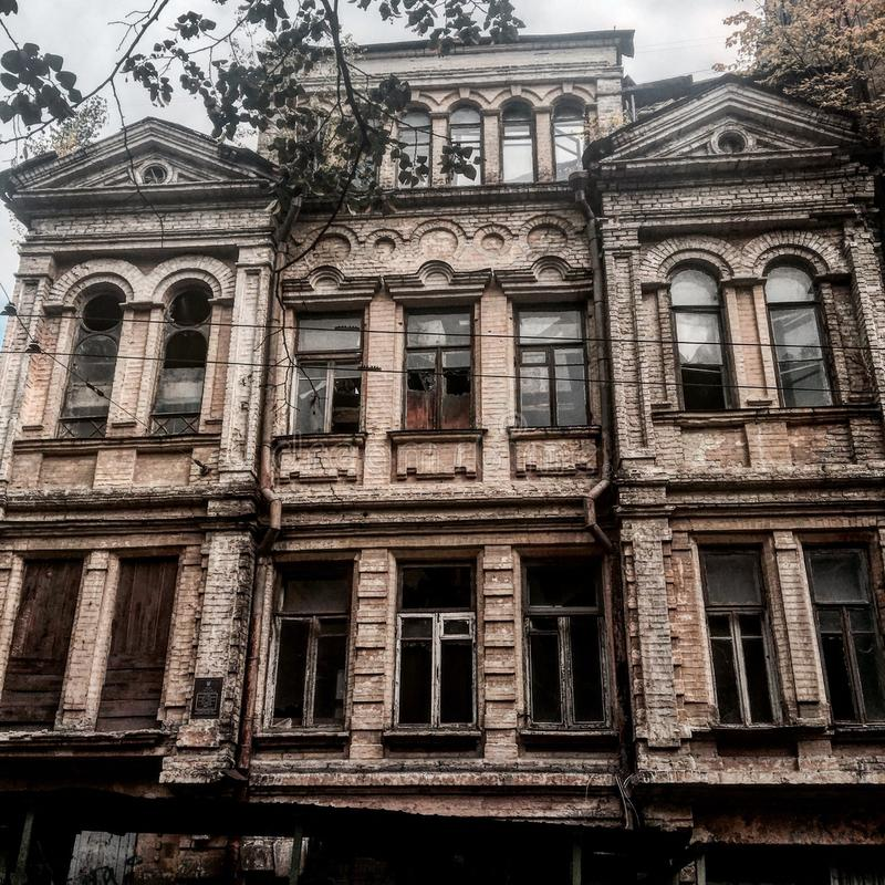 Vieille construction à Kiev photos stock