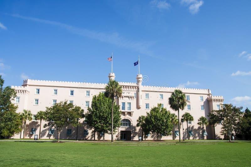 Vieille construction de citadelle à Charleston images libres de droits