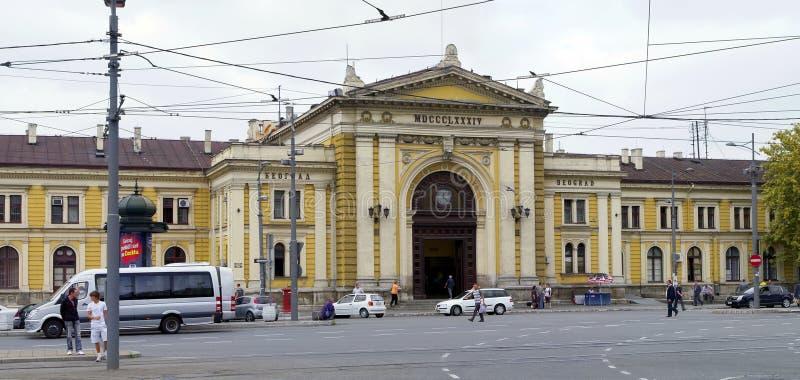 Vieille construction de gare à Belgrade, Serbie images stock