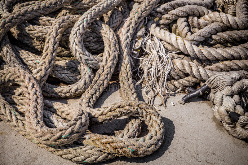 Vieille corde photographie stock libre de droits