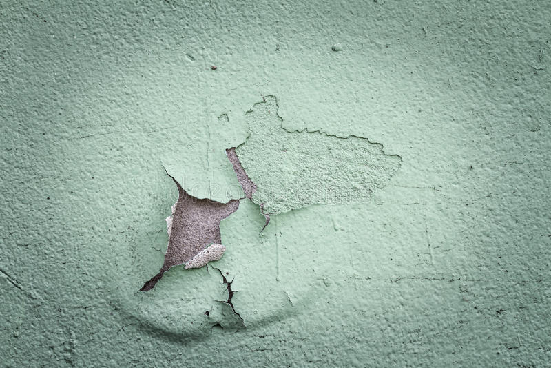 Vieille couleur de écaillement sur un mur dans le vintage photo libre de droits