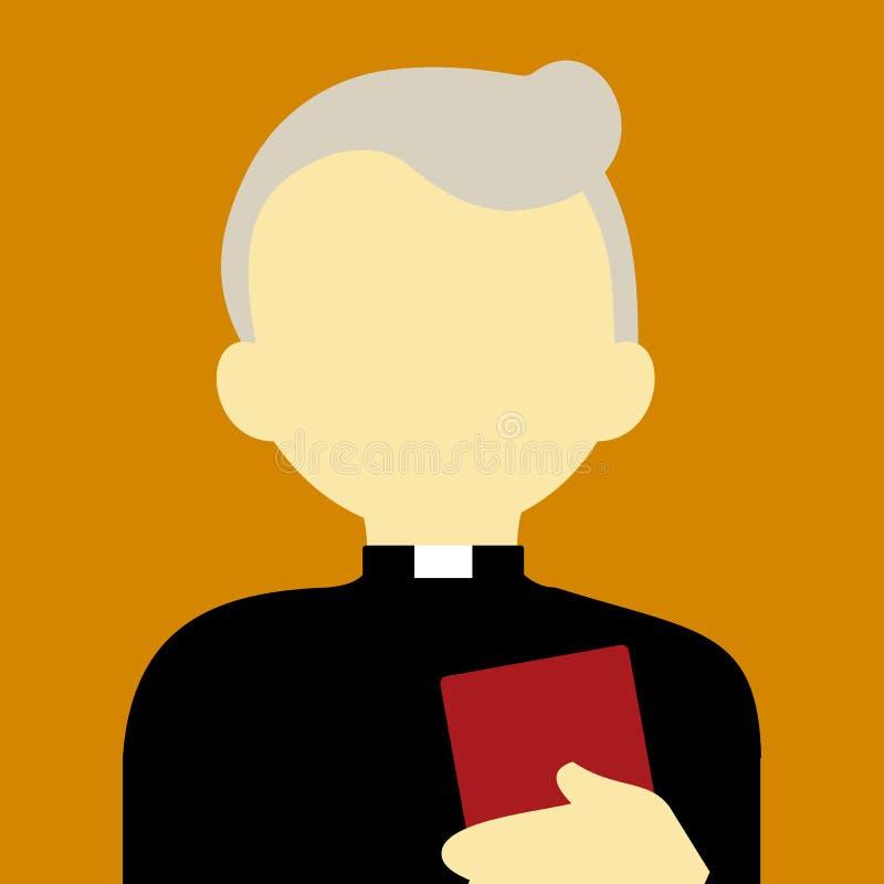 Vieille couleur religieuse de fond de Pastor People Vector Illustration Graphic illustration stock