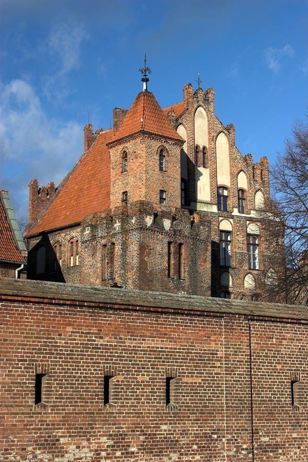 Vieille cour de citoyen à Torun photo libre de droits