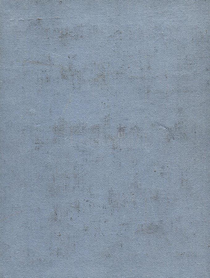 Vieille couverture de livre gris-clair sale et rayée de tissu Fond images libres de droits