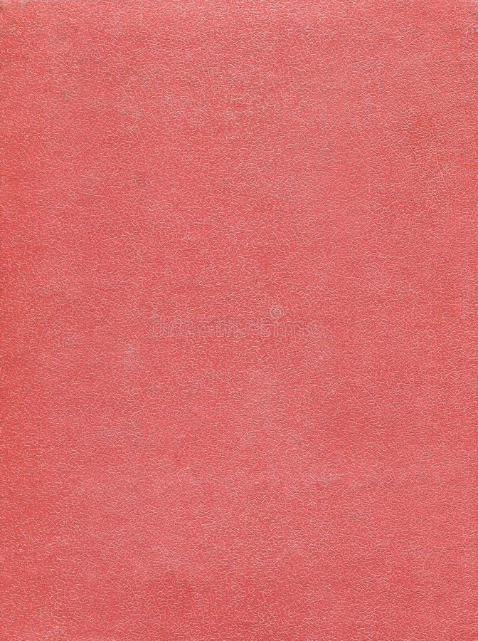 Vieille couverture de livre sale et rayée de cuir de rose de mer Fond photos stock