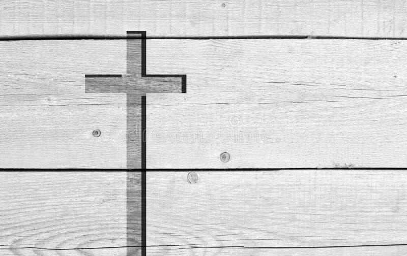 Vieille croix chrétienne blanche de symbole de religion photos libres de droits
