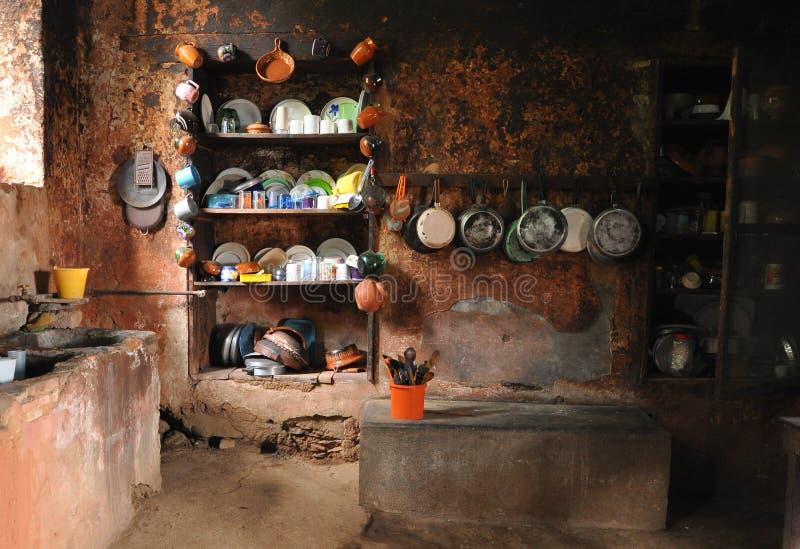 Vieille cuisine rurale mexicaine images libres de droits