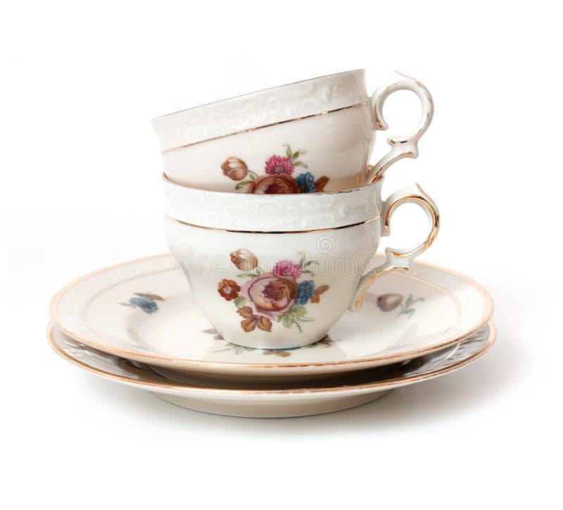 Vieille cuvette de thé photos stock