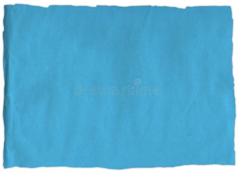 Vieille déchirure de papier bleu photos stock