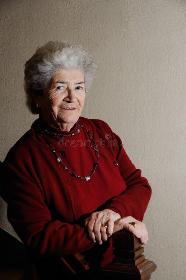 Vieille dame aînée photographie stock