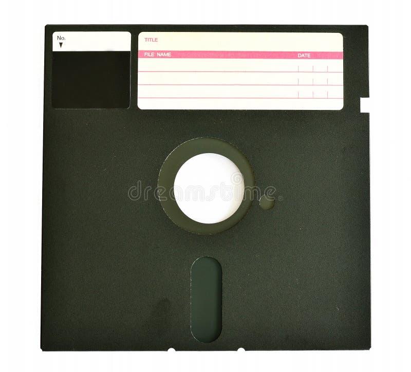 Vieille disquette 5 25 pouces d'isolement sur le blanc image stock