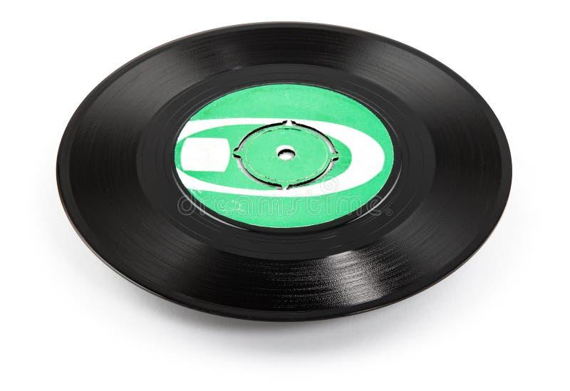 Vieille ellipse d'enregistrement de vinyle - chemin de découpage images stock