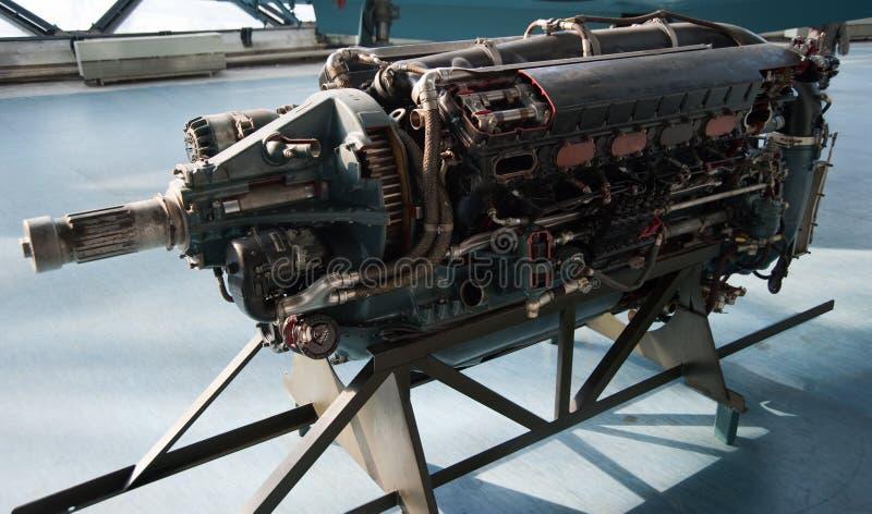 Vieille engine d'avion image stock