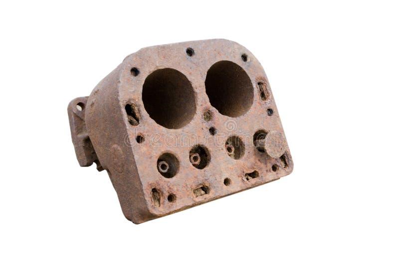 Vieille engine de combustion (rouillée) image stock