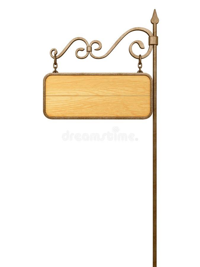 Enseigne En Bois Personnalisé - Vieille enseigne en bois illustration stock Illustration du bulletin 34864704