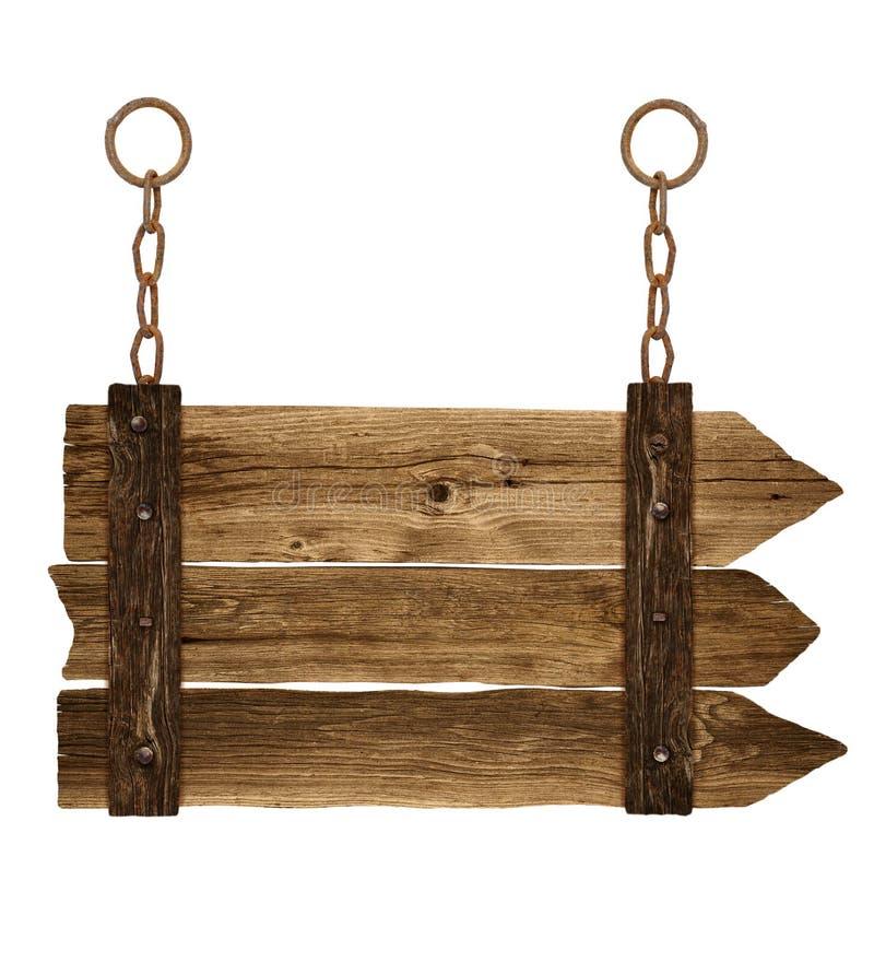 Vieille enseigne en bois image stock