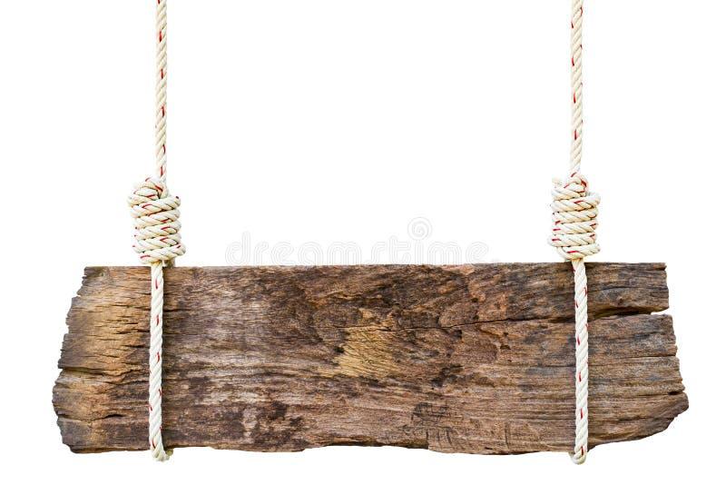 Vieille enseigne en bois images libres de droits