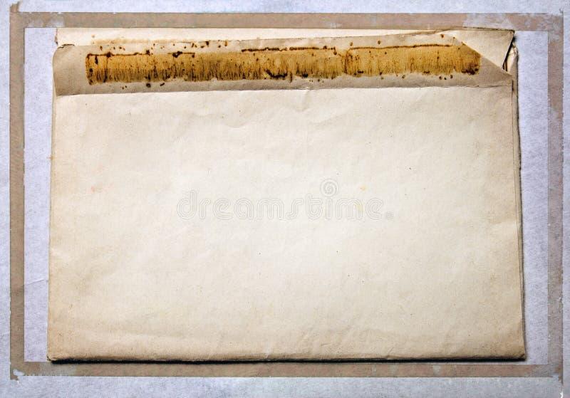 Vieille enveloppe de courrier de vintage photo libre de droits
