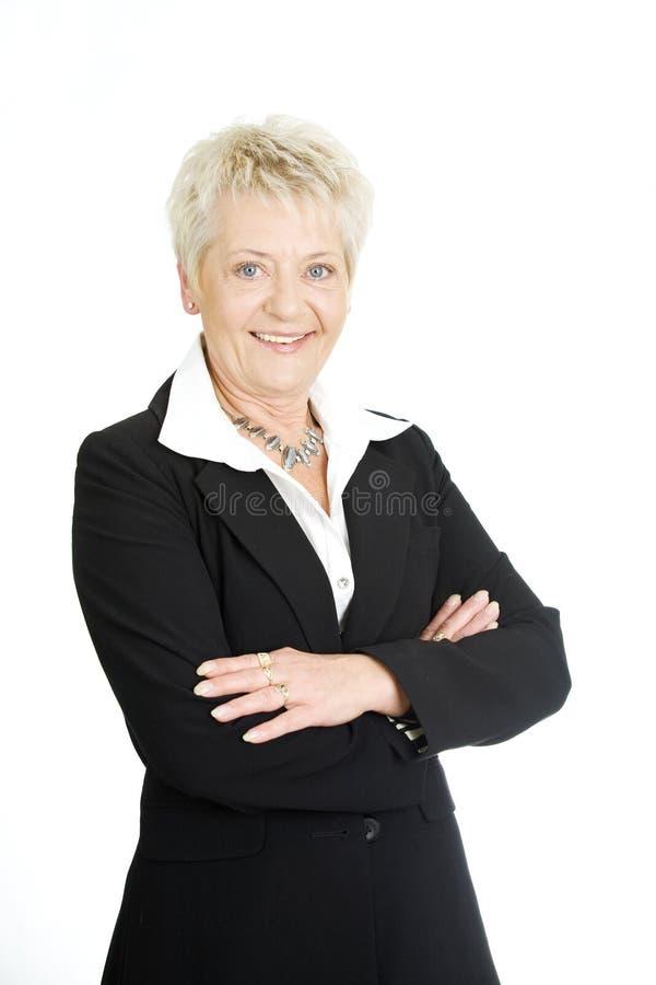 Vieille femme d'affaires photographie stock libre de droits