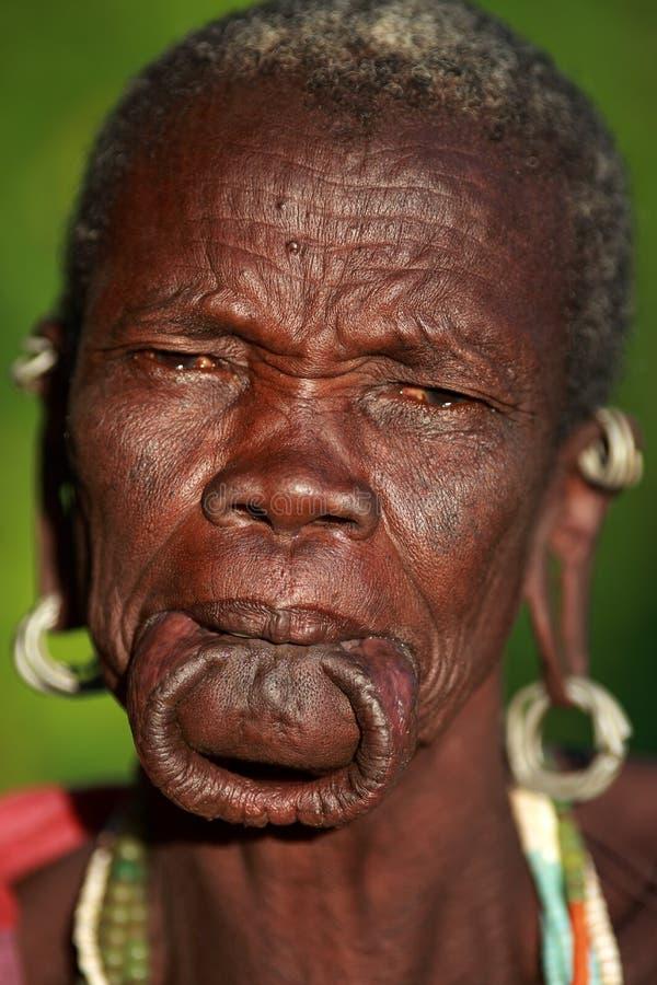 Vieille femme de Suri photo libre de droits