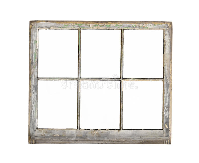 Vieille fen tre en bois de cadre d 39 isolement image stock for Cadre de fenetre en bois