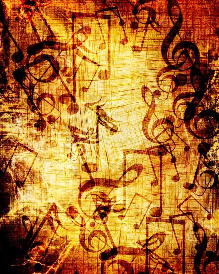 Vieille feuille de musique illustration libre de droits