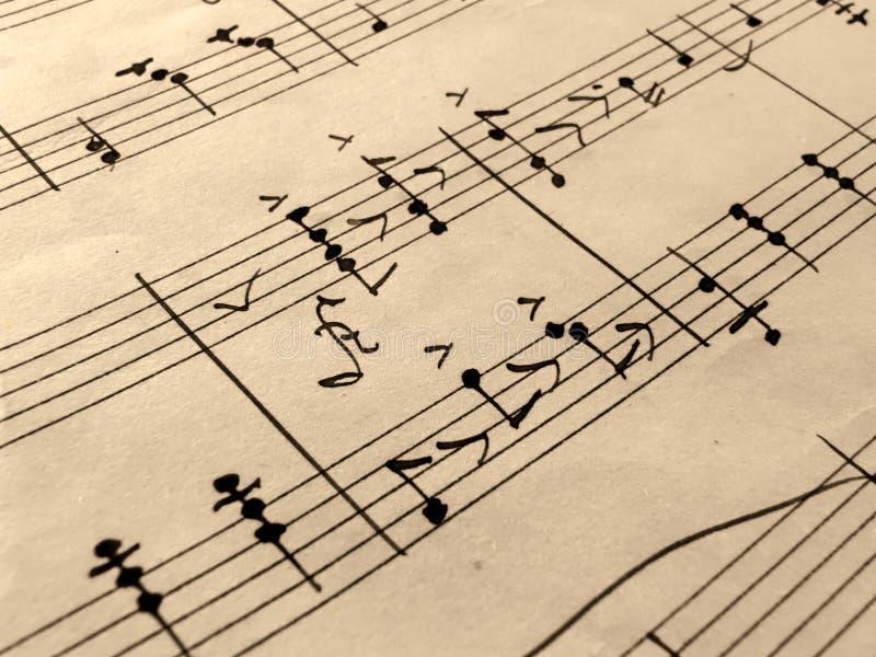Vieille feuille de musique images libres de droits