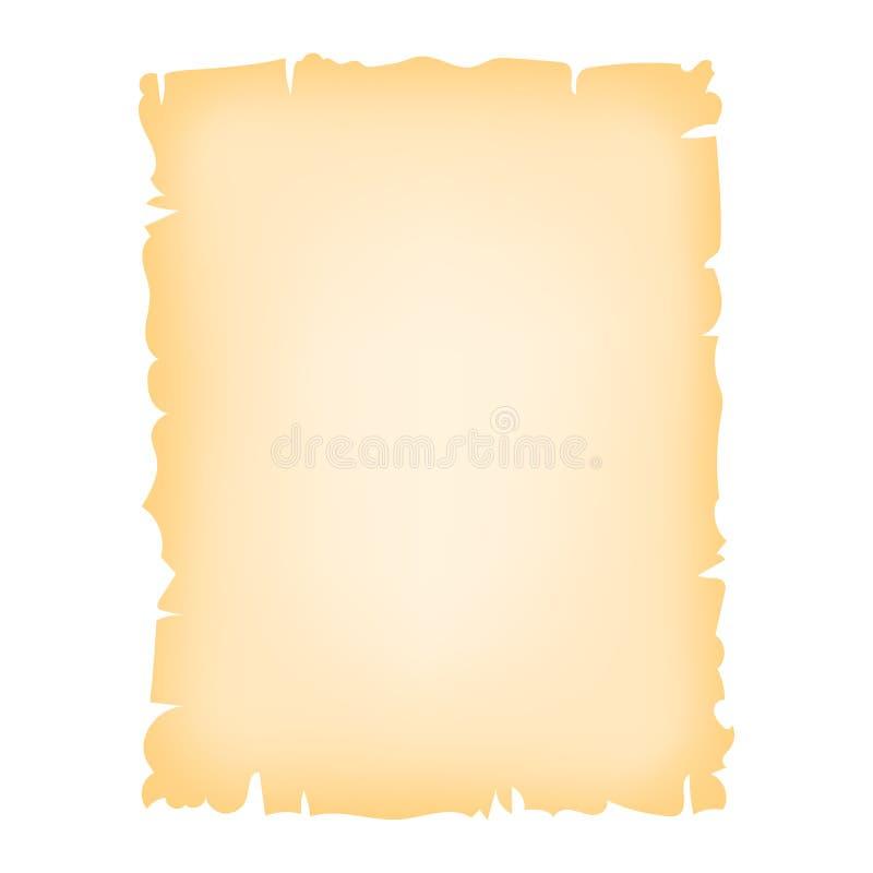 Vieille feuille de papier illustration de vecteur