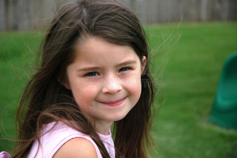 Vieille fille de cinq ans adorable image stock