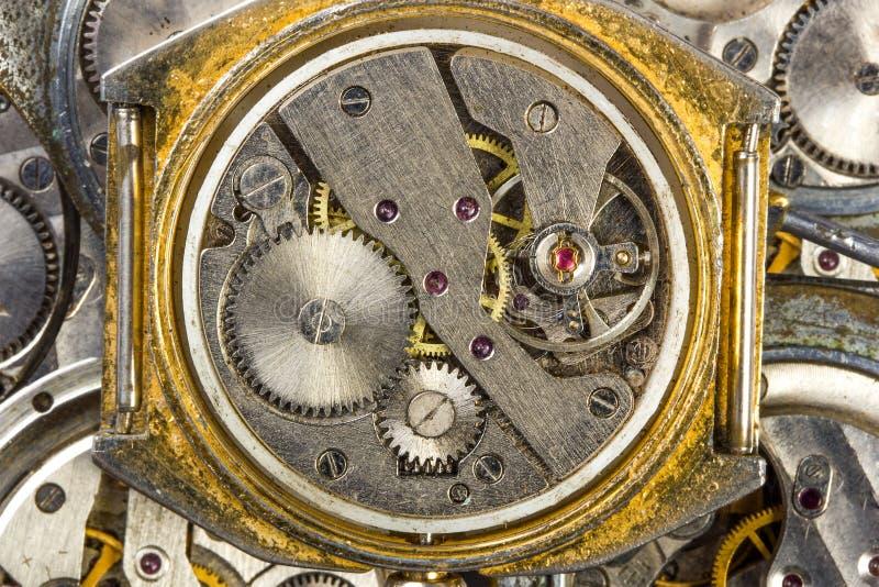 Vieille fin d'horloge  photographie stock libre de droits