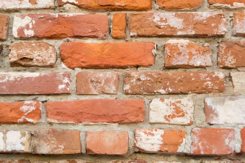 Vieille fin rouge de fond de texture de mur de briques  images stock