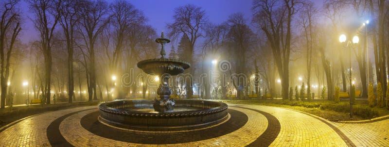 Vieille fontaine en parc de Mariinsky photos libres de droits