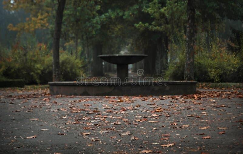 Vieille fontaine en pierre de cimetière, Fribourg-en-Brisgau, Allemagne photos stock