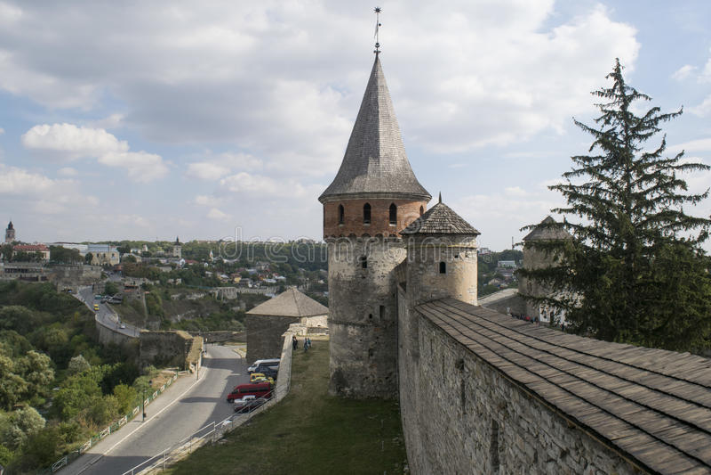 Vieille forteresse défensive en Ukraine photographie stock