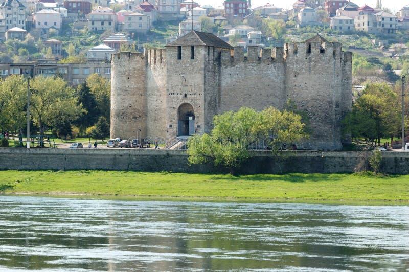 Vieille forteresse dans Soroca, fleuve de Nistru, Moldau images stock