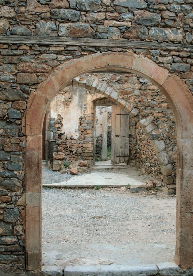 Vieille forteresse vénitienne sur l'île de Spinalonga, Crète, Grèce photo libre de droits