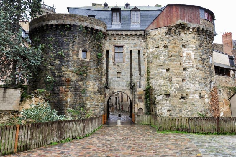 Vieille fortification à Rennes, France photos libres de droits