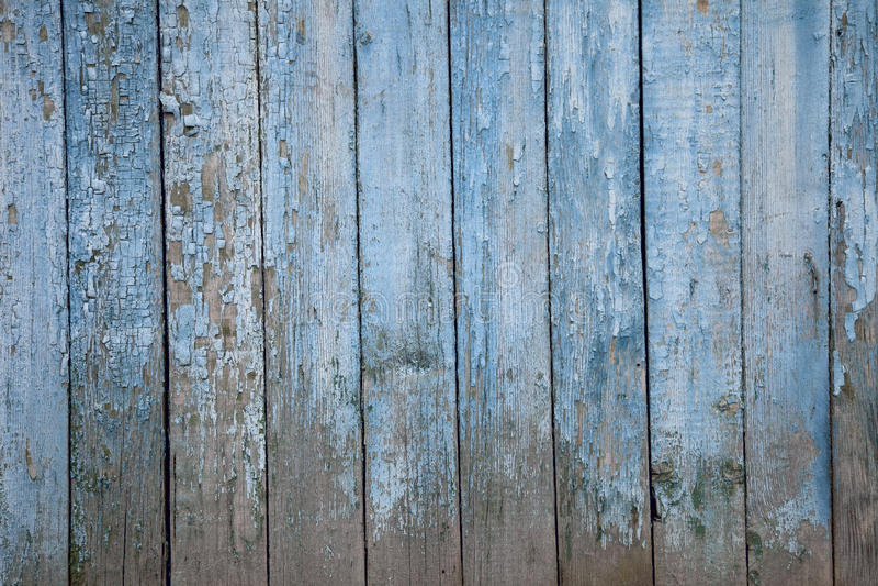 Vieille frontière de sécurité en bois peinte, naturellement superficielle par les agents photos stock