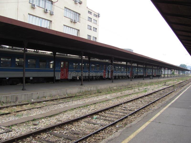 Vieille gare ferroviaire à Belgrade photos libres de droits