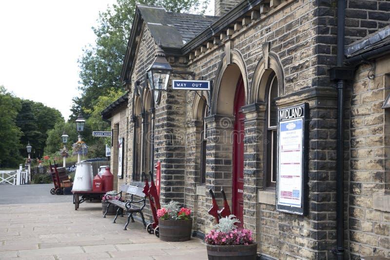 Vieille gare victorienne anglaise photo libre de droits