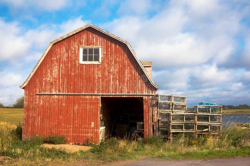 Vieille grange de homard sur prince Edward Island photographie stock