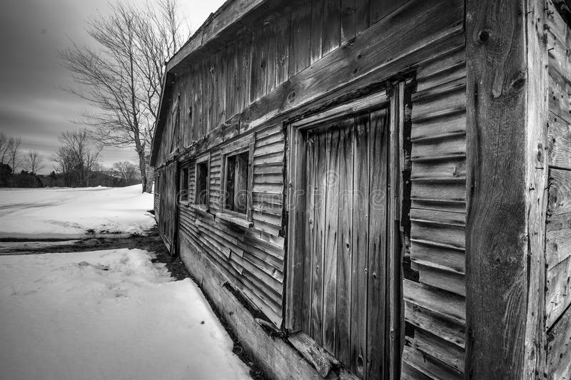 Vieille grange du Vermont image stock