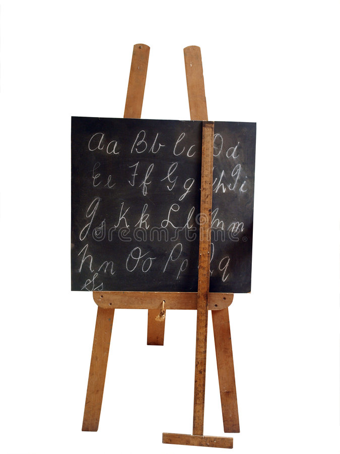 vieille grille de tabulation de tableau noir image libre de droits