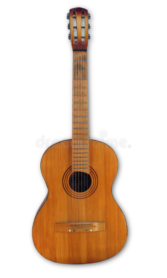 Vieille Guitare Photographie stock