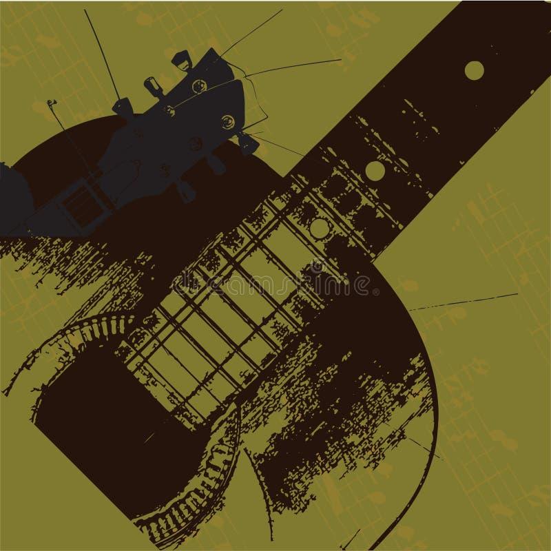 Vieille guitare grunge illustration stock