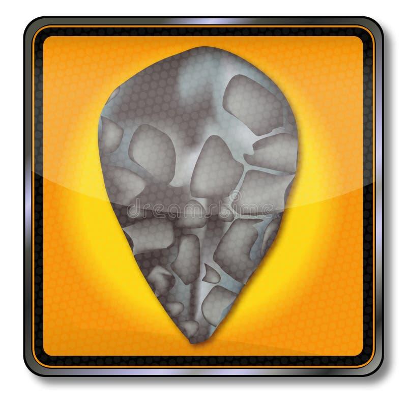Vieille hache de main en pierre illustration stock